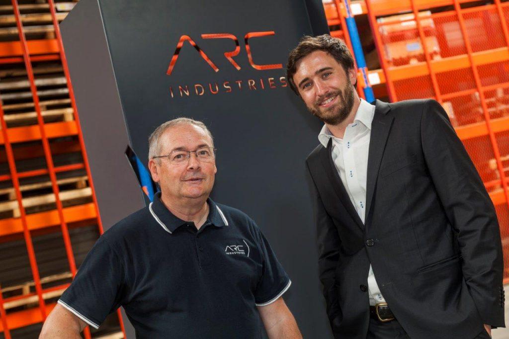 ARC Industries tôlerie avec MM. ARGOUD et de TELLIER