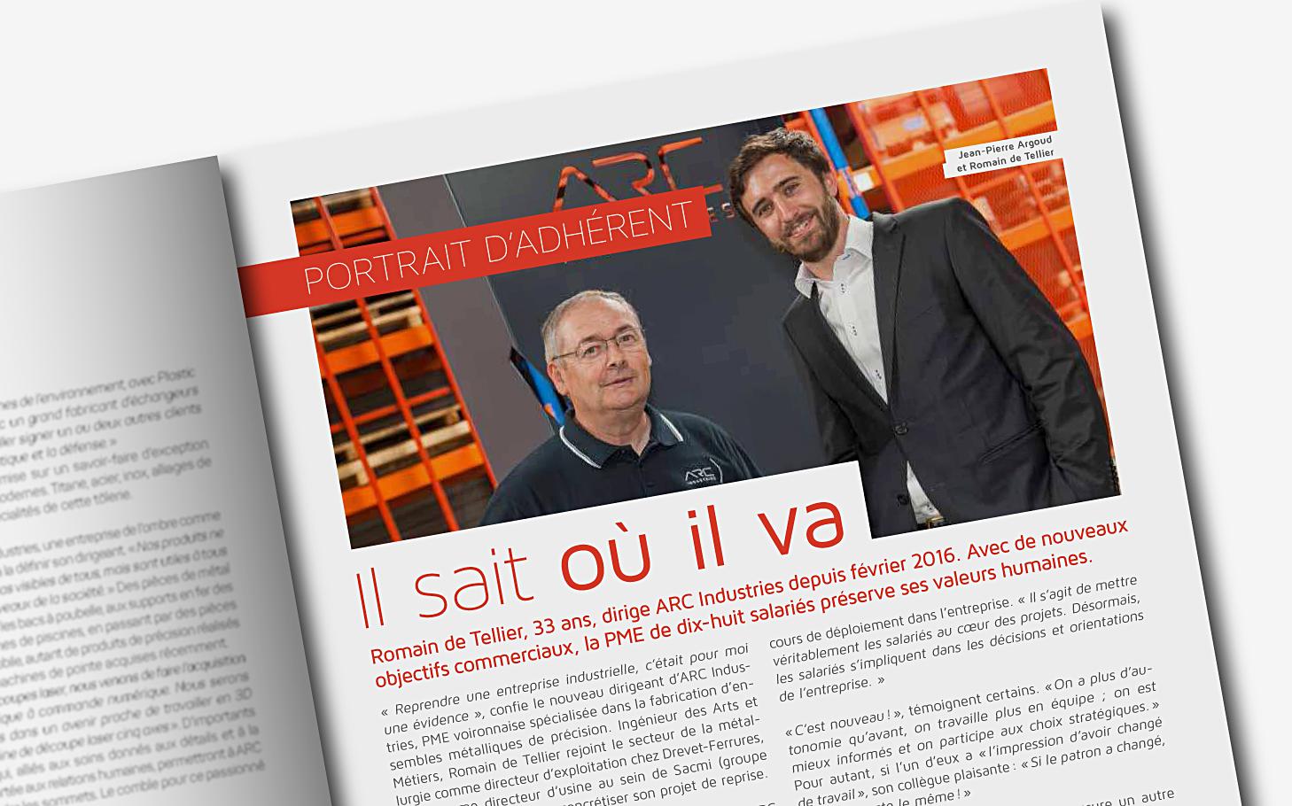 Arc Industries transmission de la PME dans le magazine UDIMAG