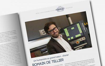 Portrait de Romain de Tellier dans le magazine AVOIRON