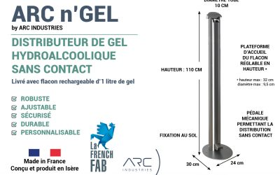 ARC'nGel : le distributeur de gel hydroalcoolique sans contact made in France