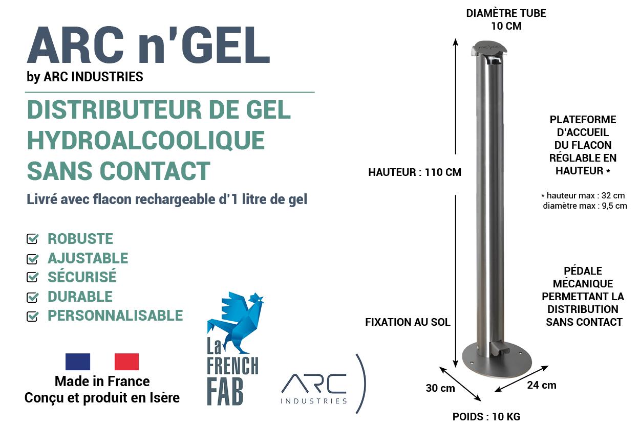 ditributeur gel hydroalcoolique arc industries
